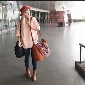 Blush Oversized Sweater w/ Kangaroo Pocket